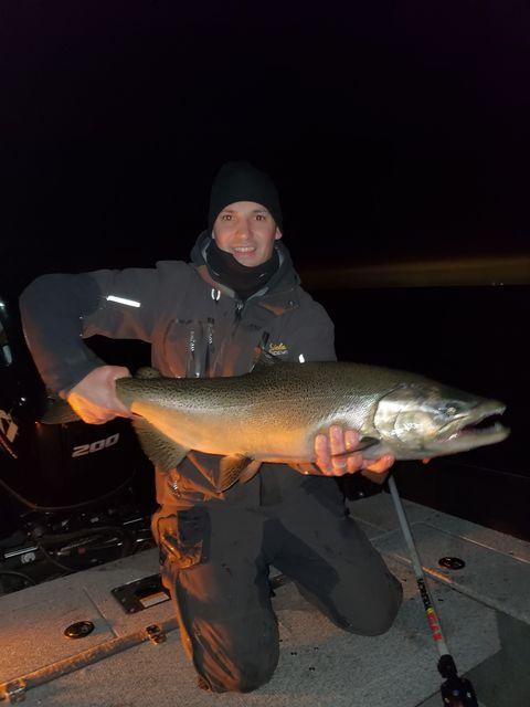 Night Fishing on Lake Ontario