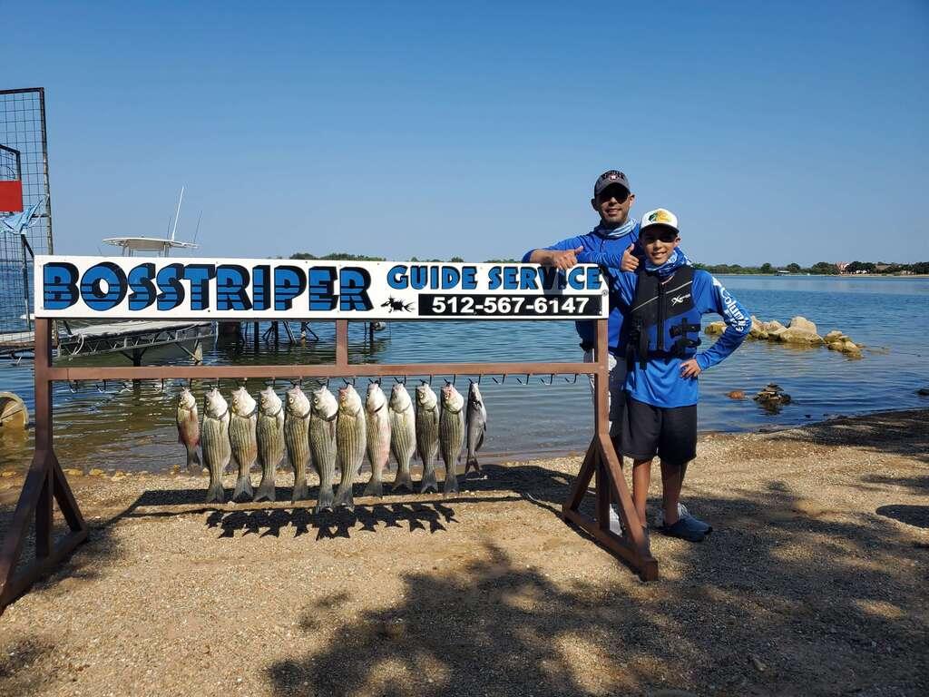 Group Fishing Trip on Lake Buchanan