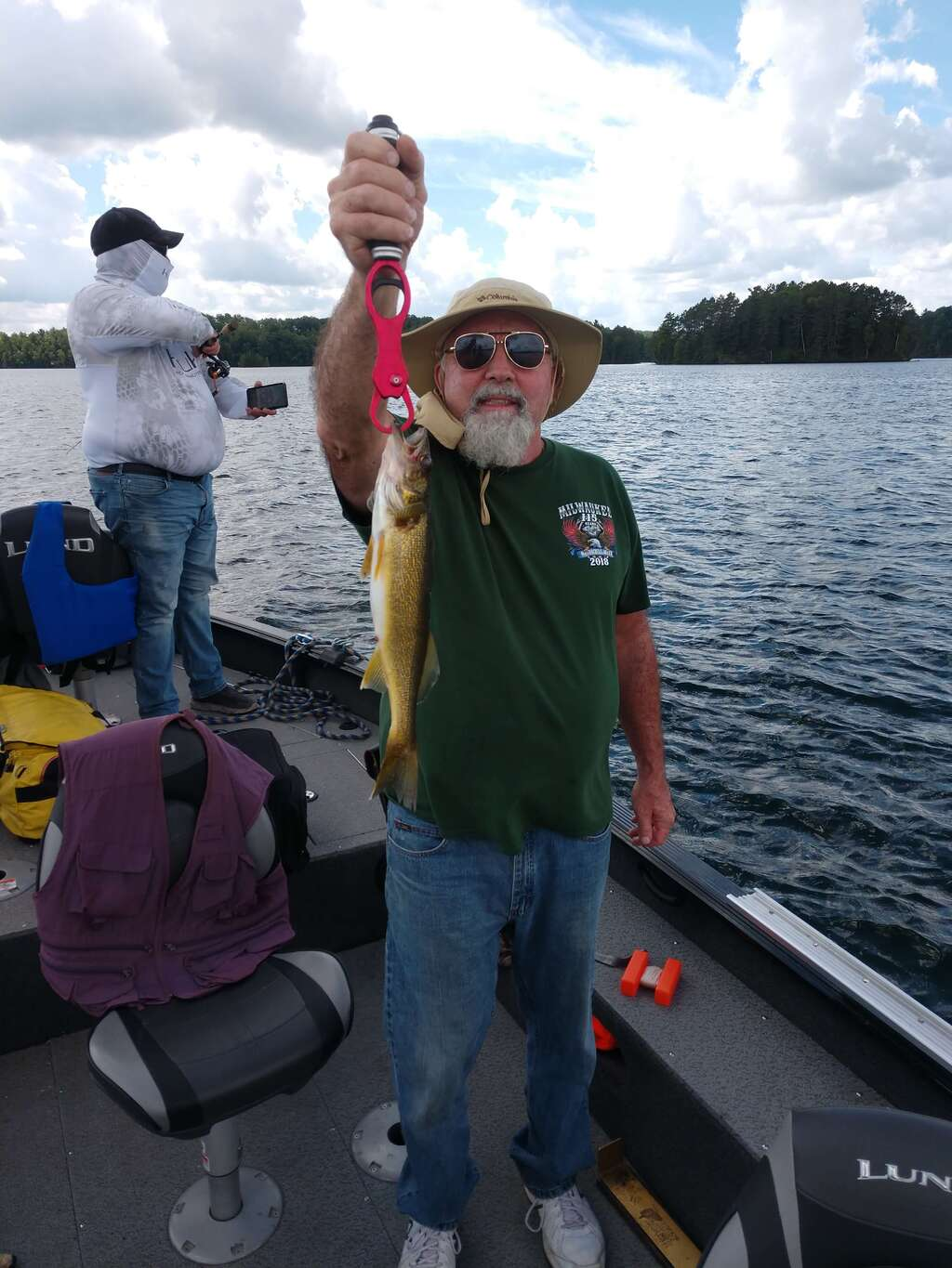 Great catch and release day on Lake Tomahawk