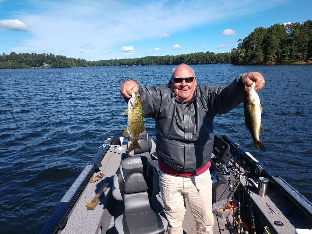Mike with a nice double on Katherine Lake