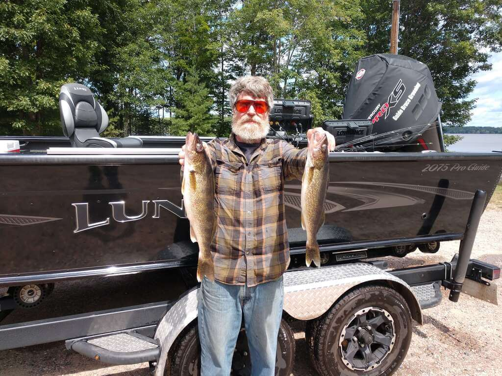My good friend Steve with a couple of nice eaters from the Rainbow Flowage