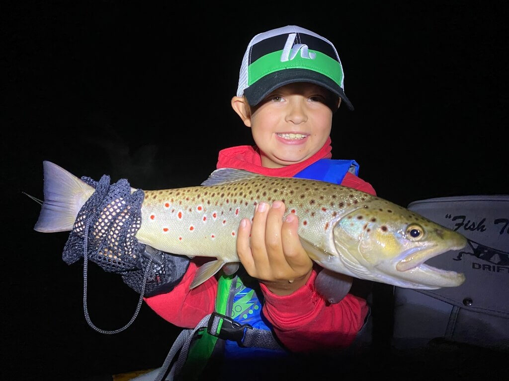 Kid Friendly Night Fishing on Pere Marquette River