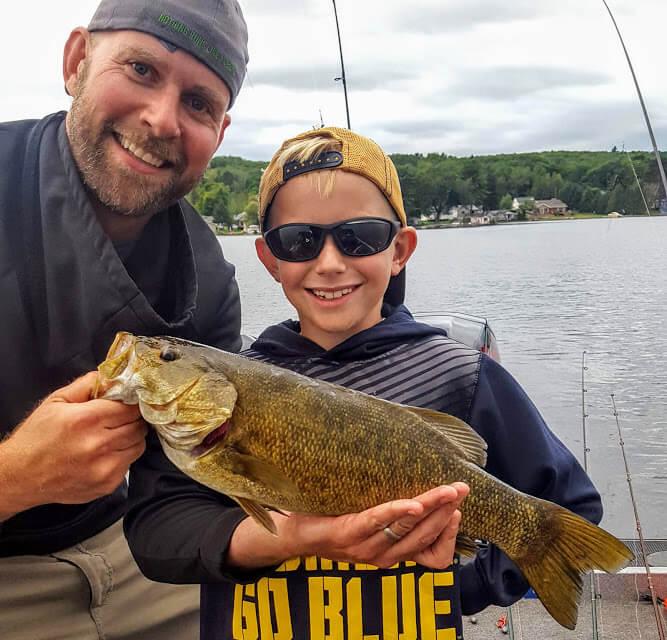 Son's First Smallmouth Bass
