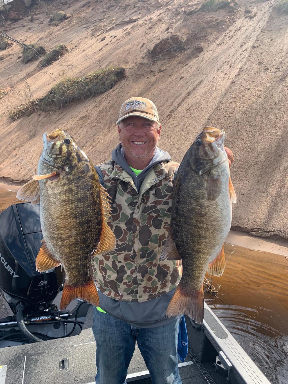 Wisconsin River Smallmouth Bass Fishing