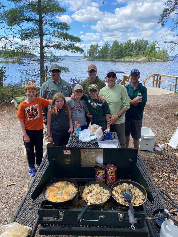 Group Fishing Trip on Rainy Lake