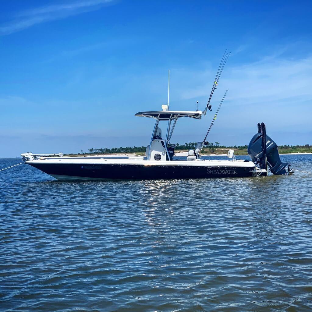 Shearwater 25 LTZ Fishing Boat on Pass Christian