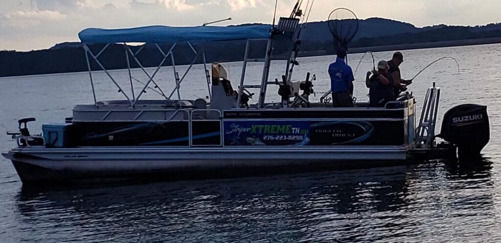 StriperXtreme Angler Qwest Pontoon Fishing Boat