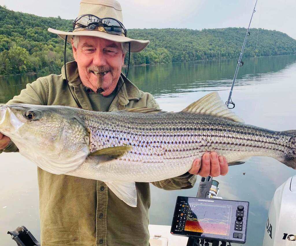 Striper on Beltzville Lake