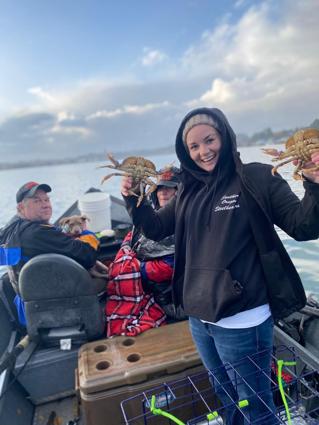 Fishing for Crab on Rogue River