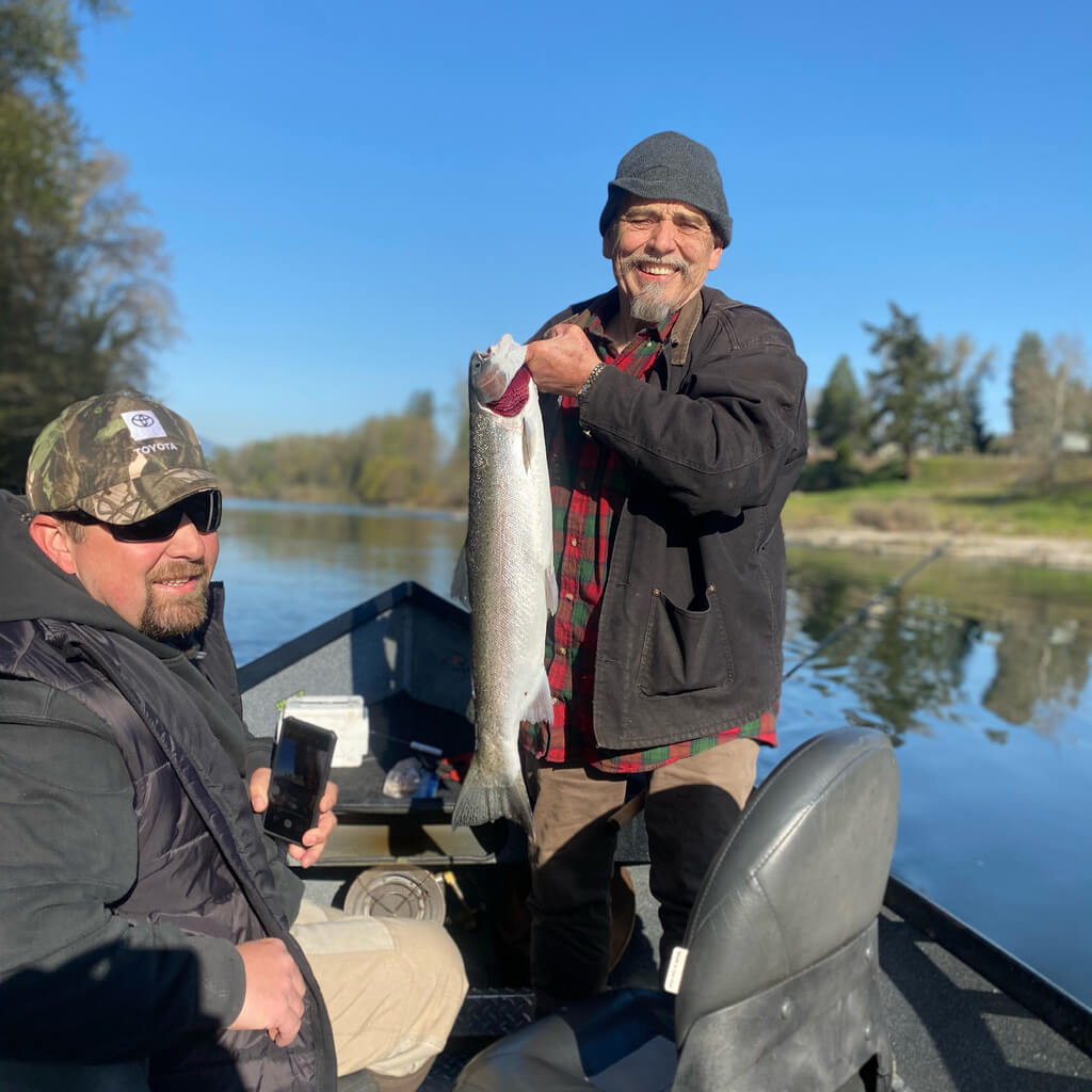 Fishing for Steelhead on Chetco River