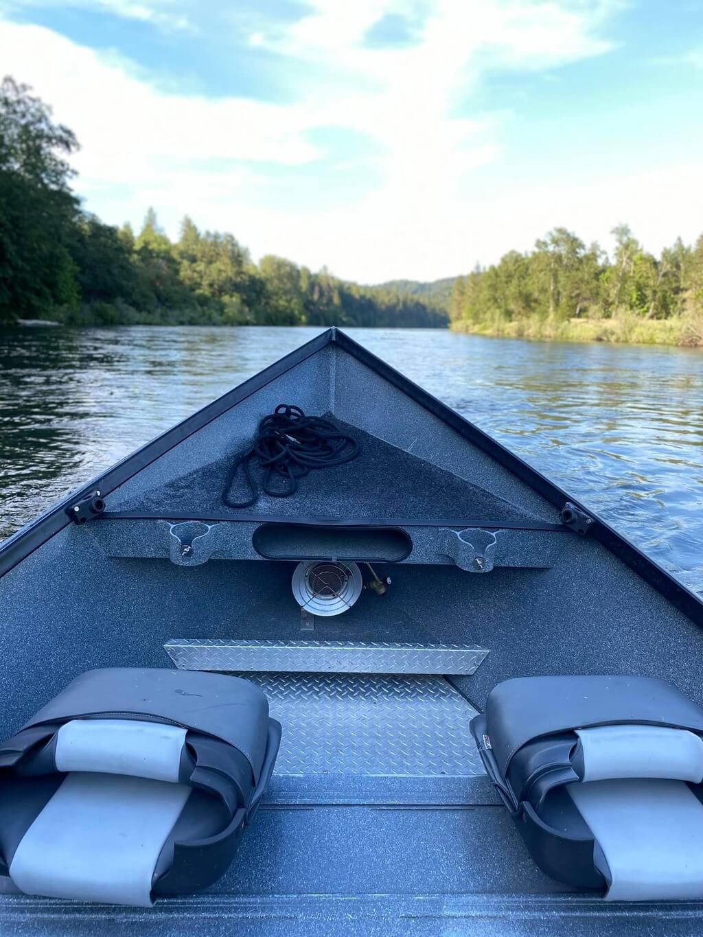Fishing Guide with Clean Boat on Rogue River